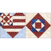 Patriotic Heart & Square Combo